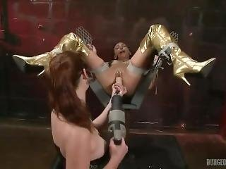 Wenona Machine-fucked To Orgasm In The Dungeon