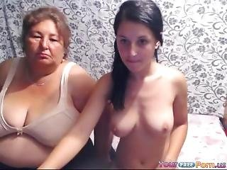 Girl And Grandma On Webcam Show
