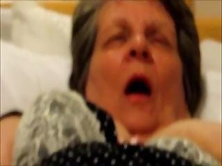 Granny Kathy Asks To Put A Dick In Her Mouth During Masturba