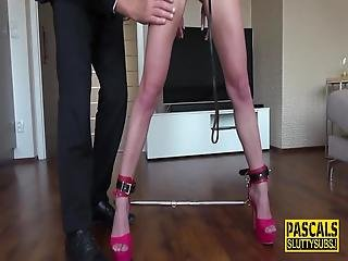 Bound Submissive Angel Emily Throats And Gets Fingered By Pascal White