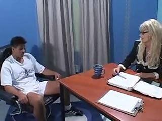 Busty free employment interview sex video interracial