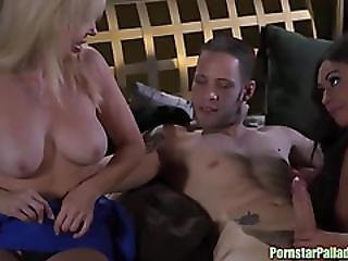 Blue Ball Special Threesome Surprise
