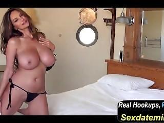 Petra Verkaik - White Bed Black Bikini