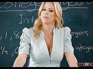 gros sein, gros téton, blonde, seins, nique, milf, école, professeur, Ados