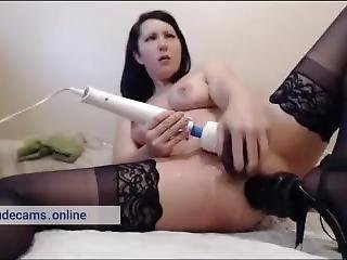 Milf Squirts From Double Penetration. Very Hot Orgasm & Squirt