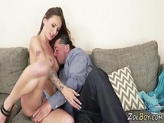 kociak, obciąganie, brunetka, sperma, fetysz, ruchanie, hardcore, drobna