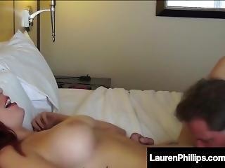 Lauren Phillips Unloads Her Pussy Juice On A Lucky Guys Dick