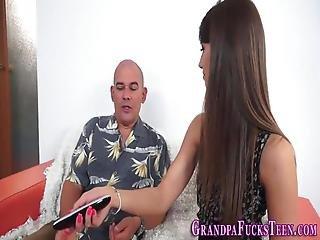 Teen Blows Grandpas Cock
