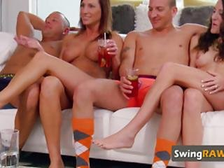Amateur Partners Joining A Different Lifestyle. Swingers Swap Partners In Erotic Orgy Adventure.