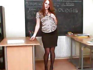 Redhead Hottie Denisa Heaven Slit Opening