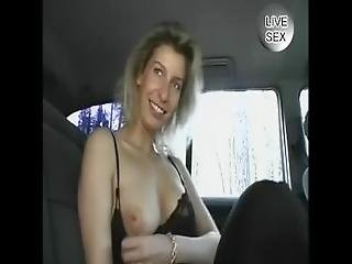 Vintage Hot Blonde Plays In The Backseat