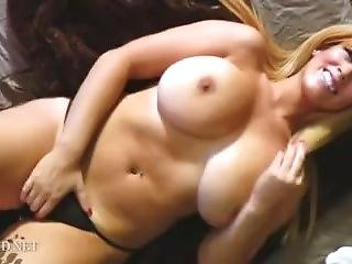 Busty Blonde Strip Tease