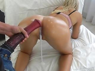Tiny Teen Fucked By Huge Horse Cock - Massive Creampie - Carry Light