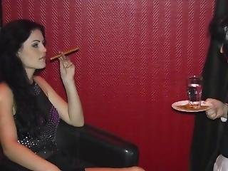 Herrin Blackdiamoond Enjoys A Cigar