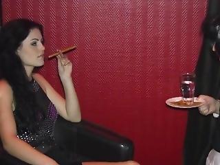 Herrin Blackdiamoond Enjoys A Cigar