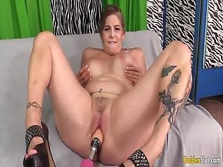 Golden Slut - Mature Women Vs Fucking Machines Compilation 7