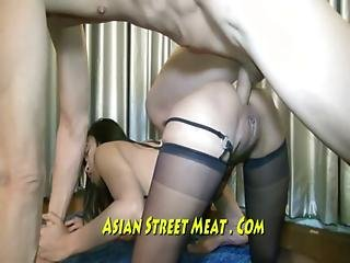 Thai Waitress Buggered Anally On All Fours