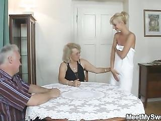 Blonde, Mature, Parents, Teen, Threesome