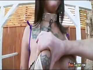 Whore Bonnie Rotten Gets Her Butthole Slammed Rough