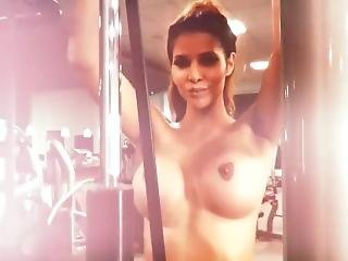Micaela Schaefer Nude Workout Part2 + Les