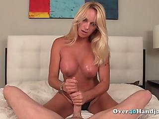 Big Boobed Blonde Mature Jerks Big Cock