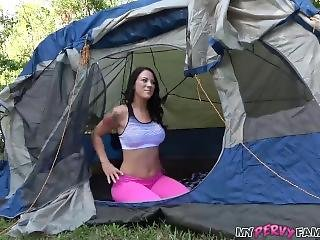 Brother And Stepsister Fuck In Tent During Family Camping Trip