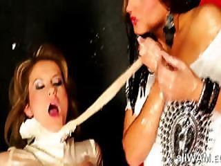Fetish Messy Lesbian Hot Play