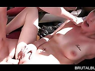 Teen Hottie Nailed Hard On The Bus Backseat