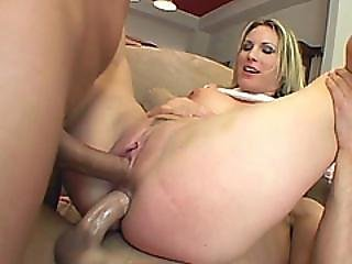 Hardcore Dp Action With Stunning Blonde Whore