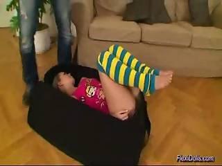 μωρό, κούκλα, ευέλικτη, πόδια, πορνοστάρ, άνοιγμα, έφηβη, στριμμένη