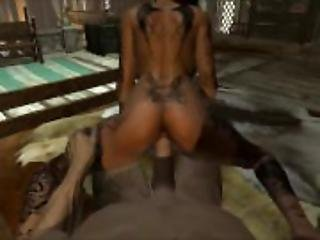Elena Fucks with Old Man in Skyrim 3D Hardcore