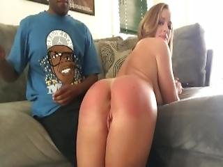 Black Dude Spank And Fuck White Chick Ass