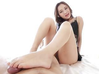 Japanese Girl Give You A Good Footjob