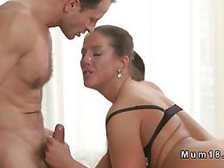 Busty Brunette Mature Has Morning Sex