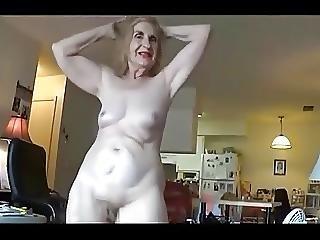 abuela, con cabello, madura