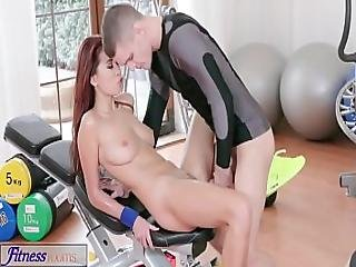 Fitness Rooms Asian Beauty Takes Trainer S Hard Cock In Her Dripping Pussy