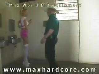 Old Creep Violates Skinny Teen In Toilet