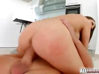 Allinternal Angelina Receives A Messy Creampie