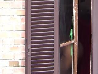 Spying My Neighbor's Big Slut Through The Window