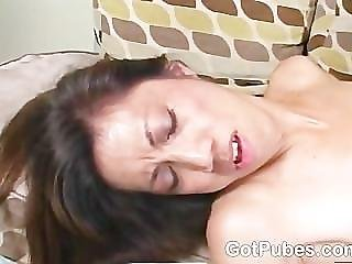 Cute Chick With A Hairy Snatch Loves A Black Cock