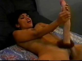 A Big Dick Asian Hermaphrodite Plays With Herself