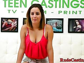 Casting Teen Pounded While Her Bigtits Shake