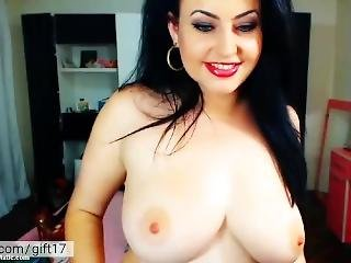 Hot Milf Playing With Her Big Tits. Very Naughty Mom