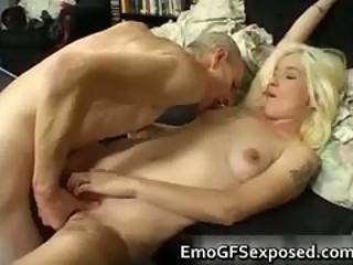 Old Papy Fucking Young Tattooed Wife Part
