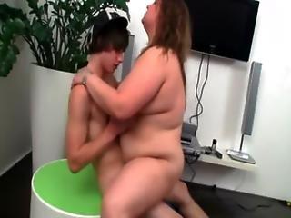 Bbw Eagerly Rides His Cock Till She Climaxes