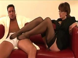 Stockinged mature Lady Sonia