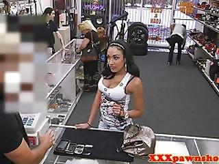 Busty Pawnshop Amateur Sucking Cock For Cash