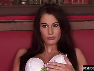 Josette Most Is A Cute Slender, Long Haired Brunette, Who Wastes No Time