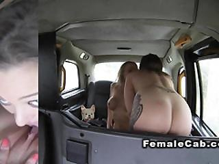Female Fake Taxi Driver Has Lesbian Sex