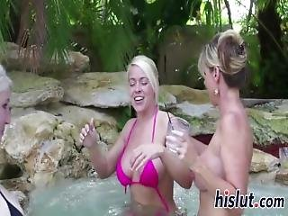 Lusty Blondes Have A Wild Threesome